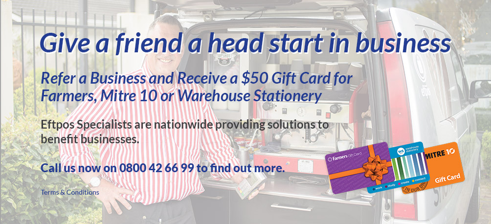 Give a friend a head start in business and receive a $50 gift card